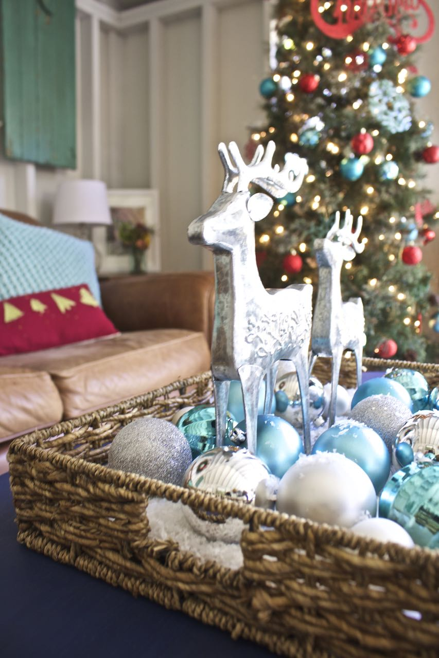 christmas in the she shed - Red And Turquoise Christmas Decorations
