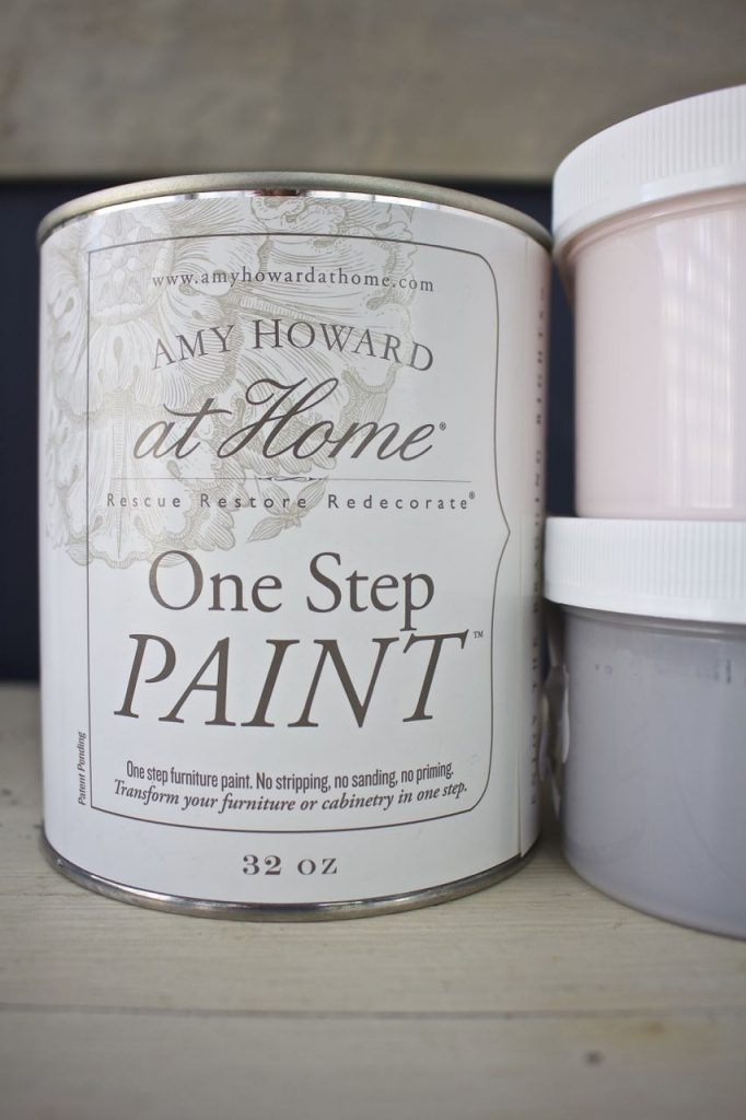 Amy Howard One Step Paint was used to paint the mason jars
