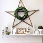 Winter Mantel Decor ~ Using White and Green