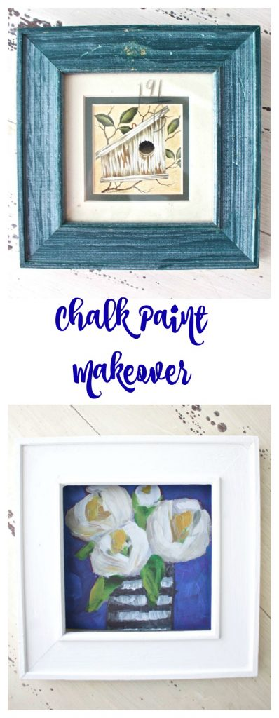 Chalk Paint makeover in Annie Sloan Pure White.