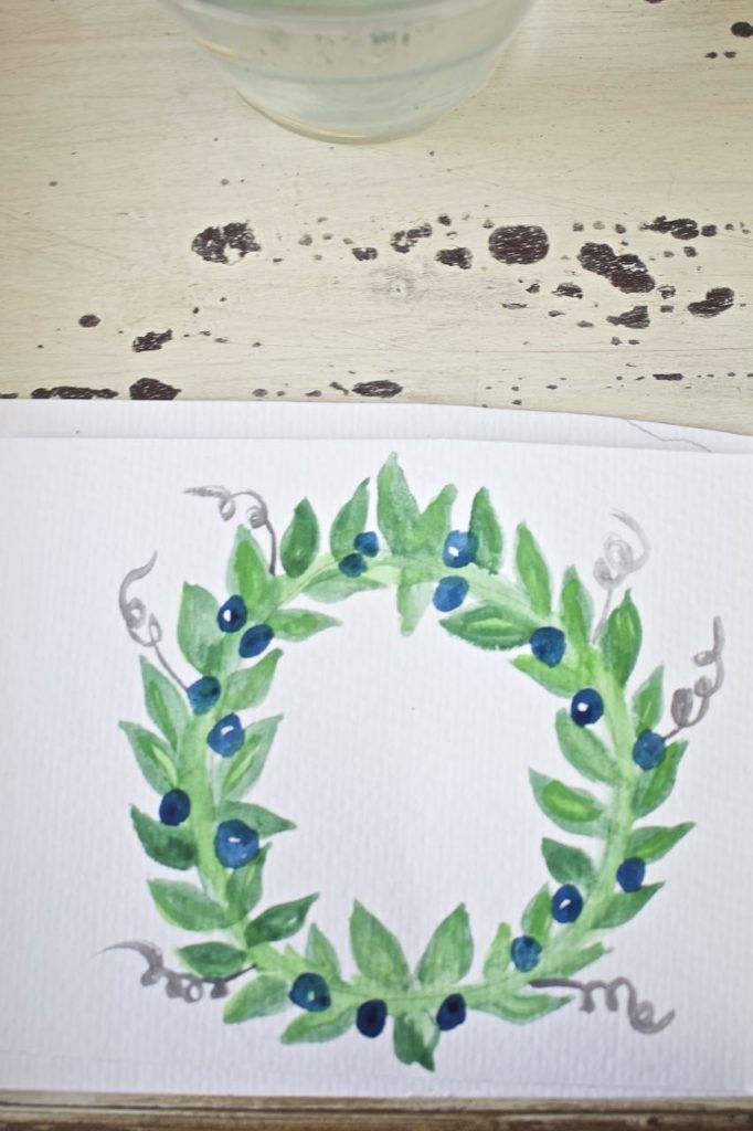 How to Make a Watercolor Wreath - Easy and Fun.