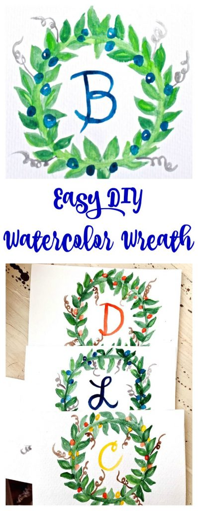 Easy DIY Watercolor Wreath