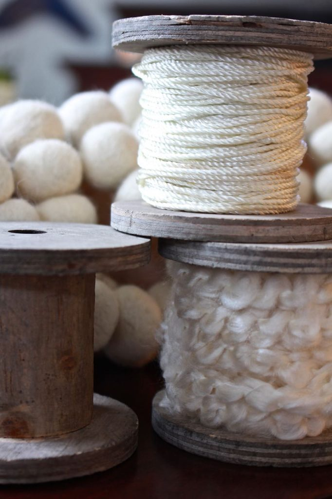 DIY Vintage Wooden Spool Decor