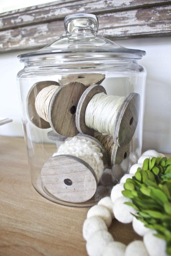 DIY Vintage Wooden Spool Decor