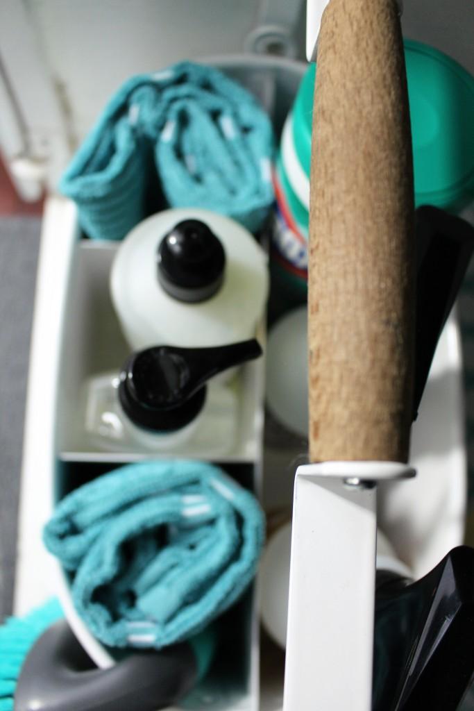 Under Kitchen Sink Storage. Cleaner caddy.