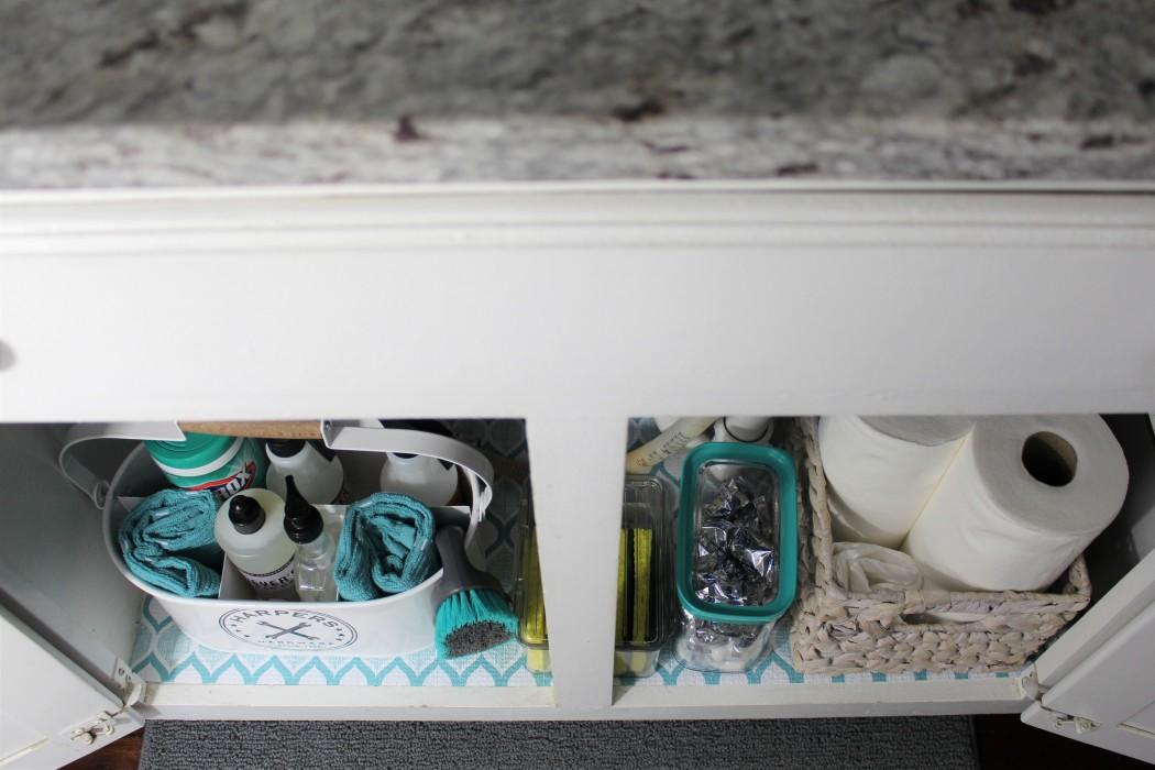 Under Kitchen Sink Storage.