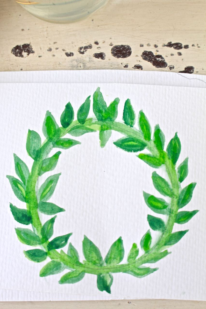 How To Make A Watercolor Wreath Easy And Fun 2 Bees In A Pod