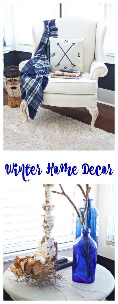 Winter Home Decor. Collage