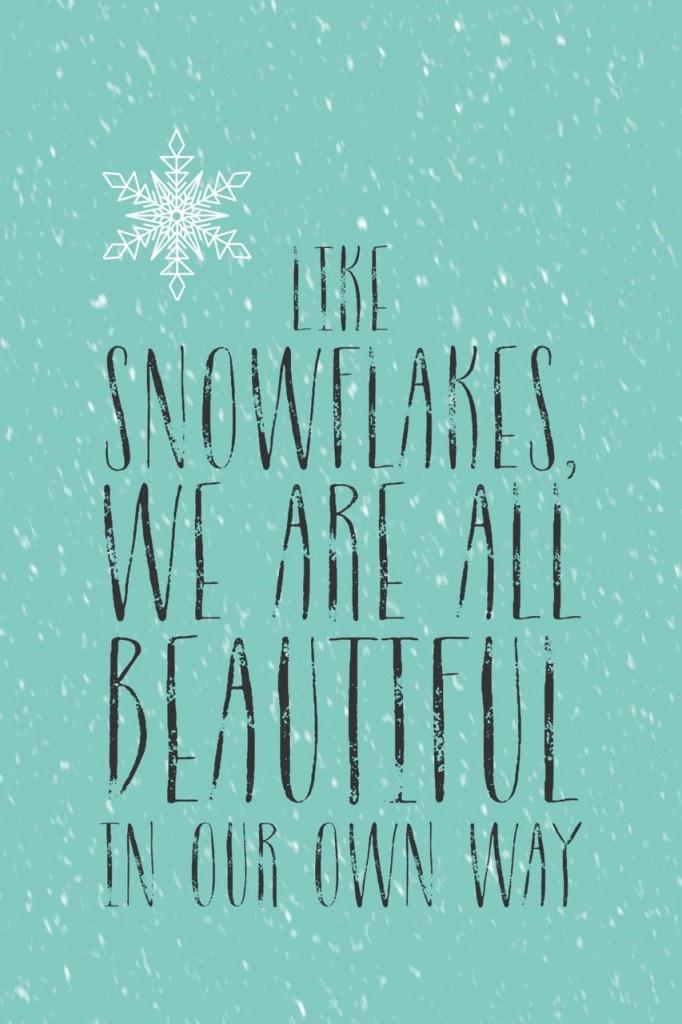 Winter snow graphic