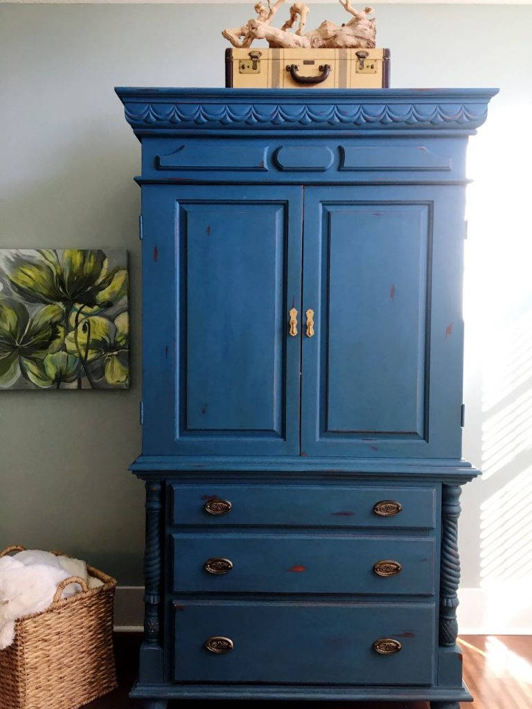 2 Bees in a Pod. Aubusson painted armoire.