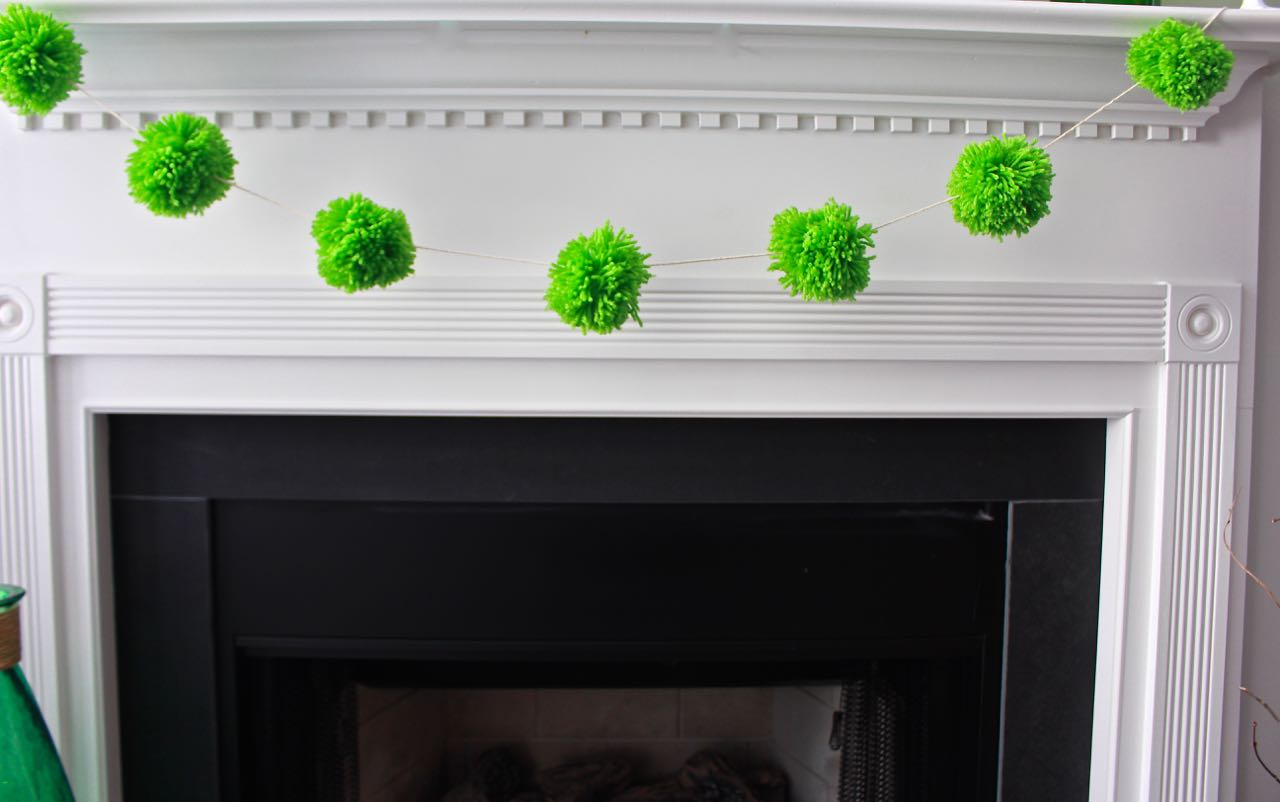 how to make a pom pom garland home with decor 2 bees in a pod