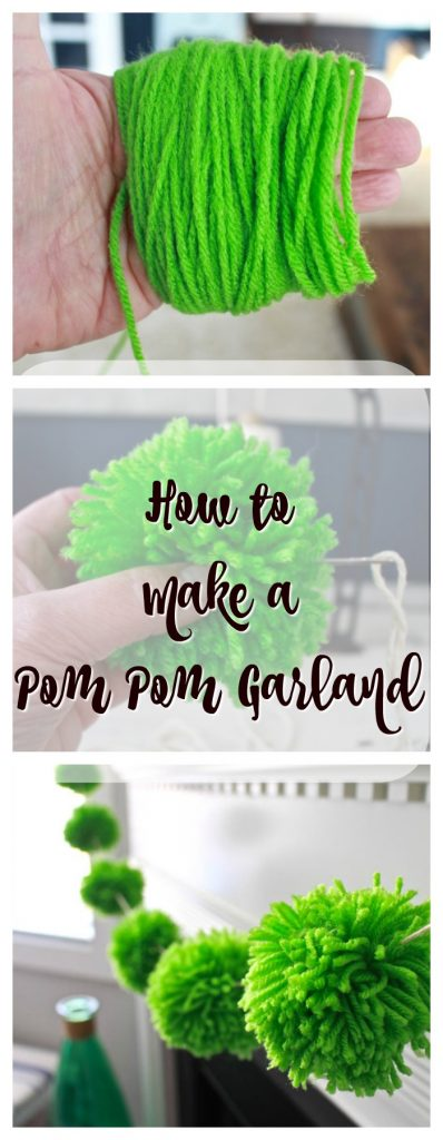 2 Bees in a Pod. How to make a pom pom garland. Super easy to make.