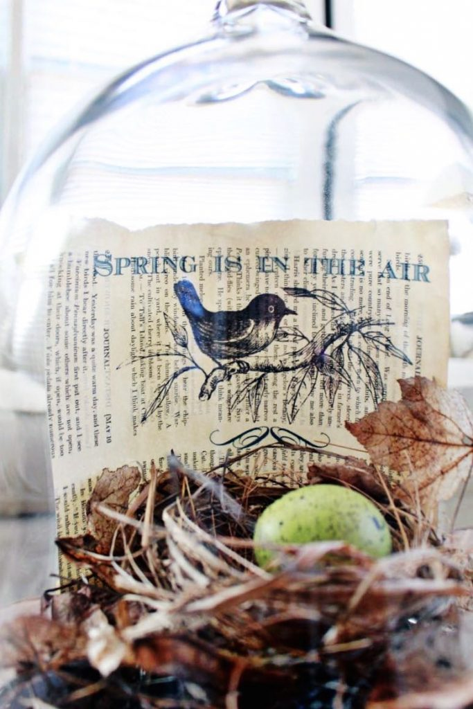 2 Bees in a Pod. Spring Book Page Art. Spring quoted printed on vintage book page.