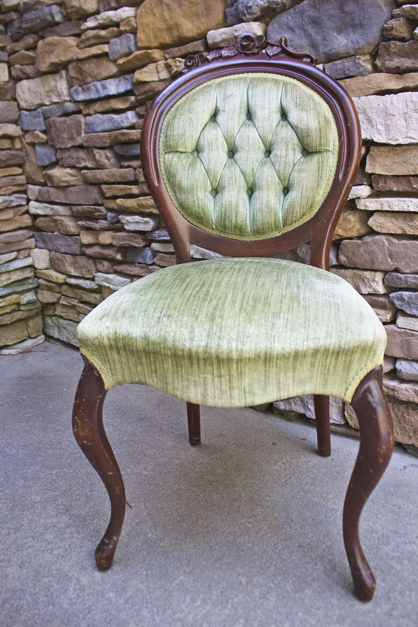 This Antique Chair Is A Bit Broken And Tattered