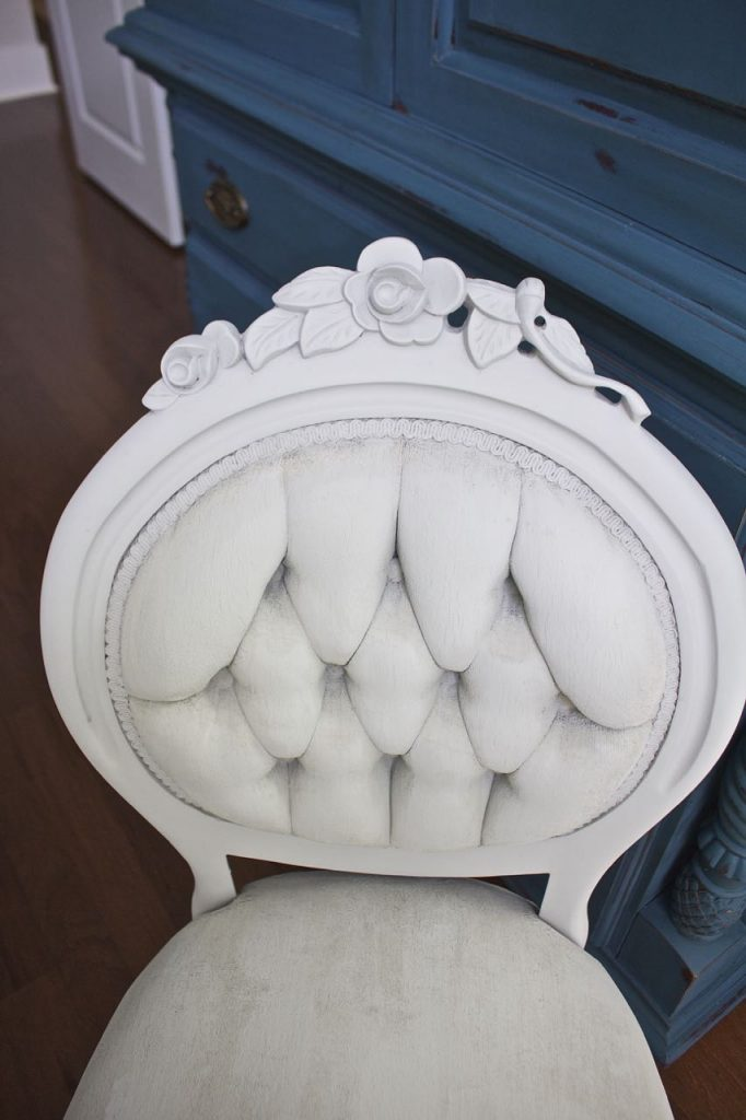 2 Bees in a Pod. Victorian side chair gets a chalk paint makeover