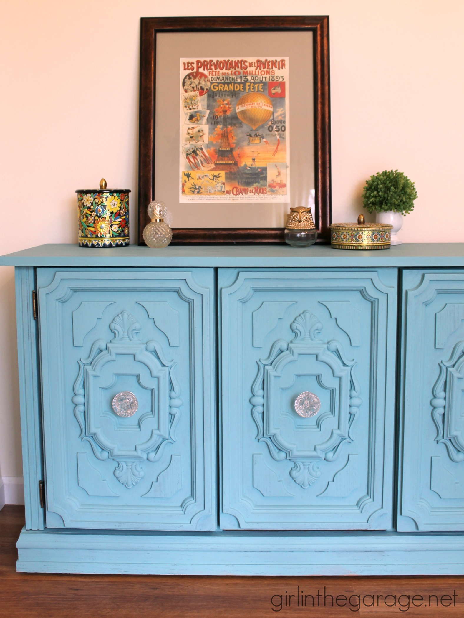 GIRL IN THE GARAGE -provence-ornate-buffet-makeover