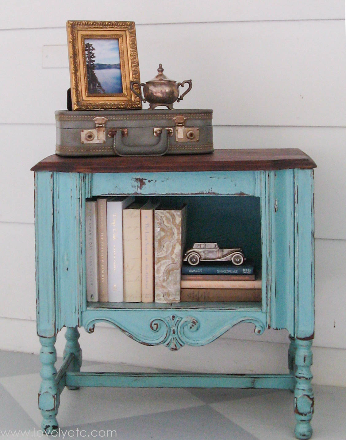 Lovely Etc - turquoise cabinet