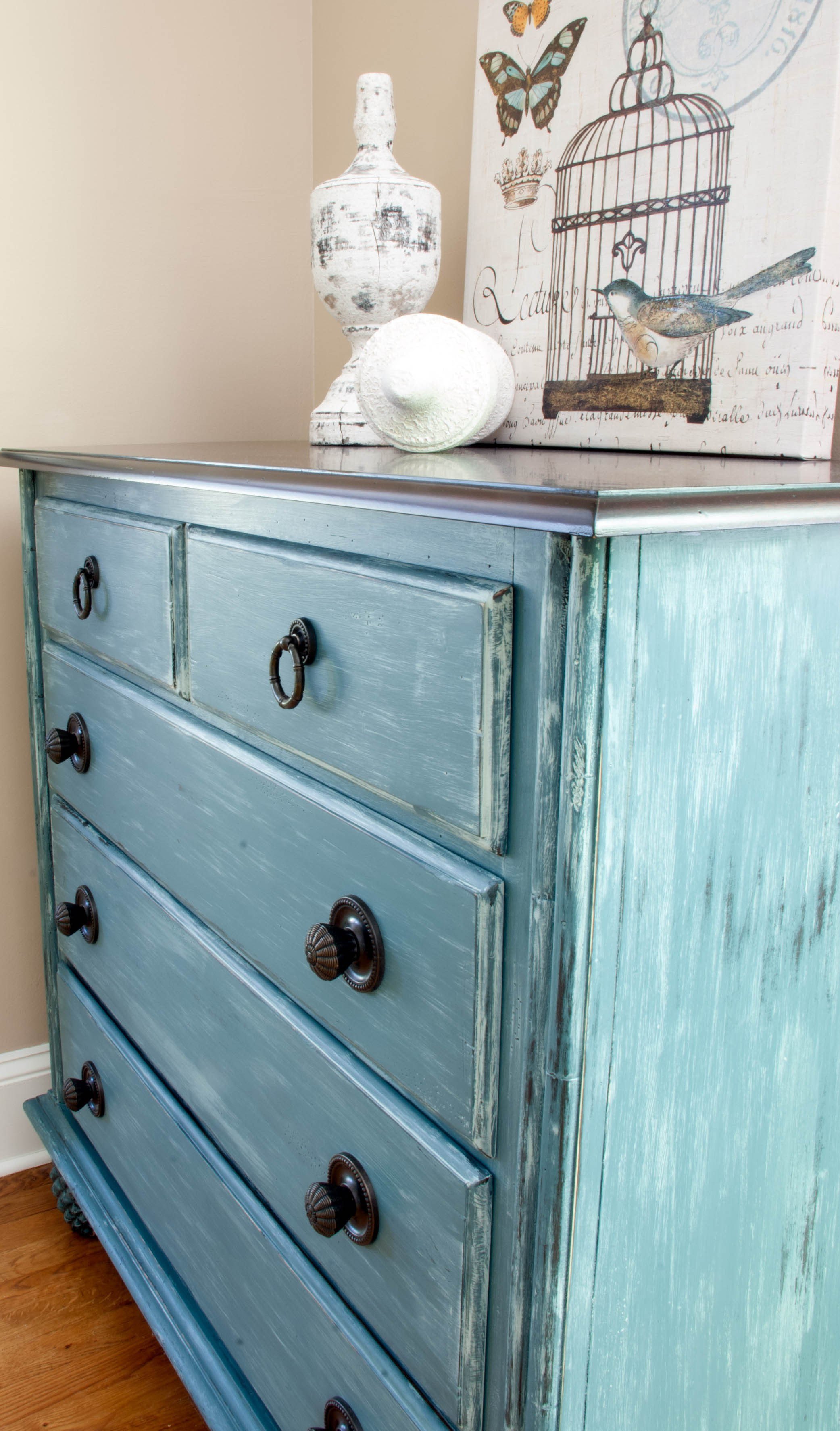 The Chelsea Project - blue painted console