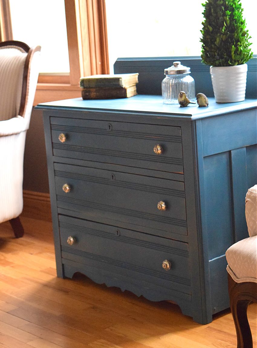 Timeless Creations - Aubusson Blue Dresser. ABlueDresser7