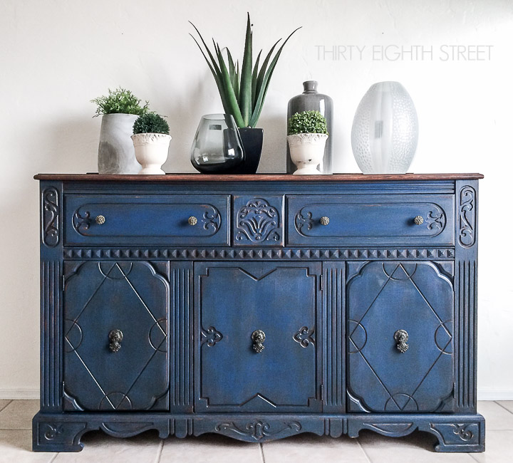 thirty eighth stree - blue painted buffet