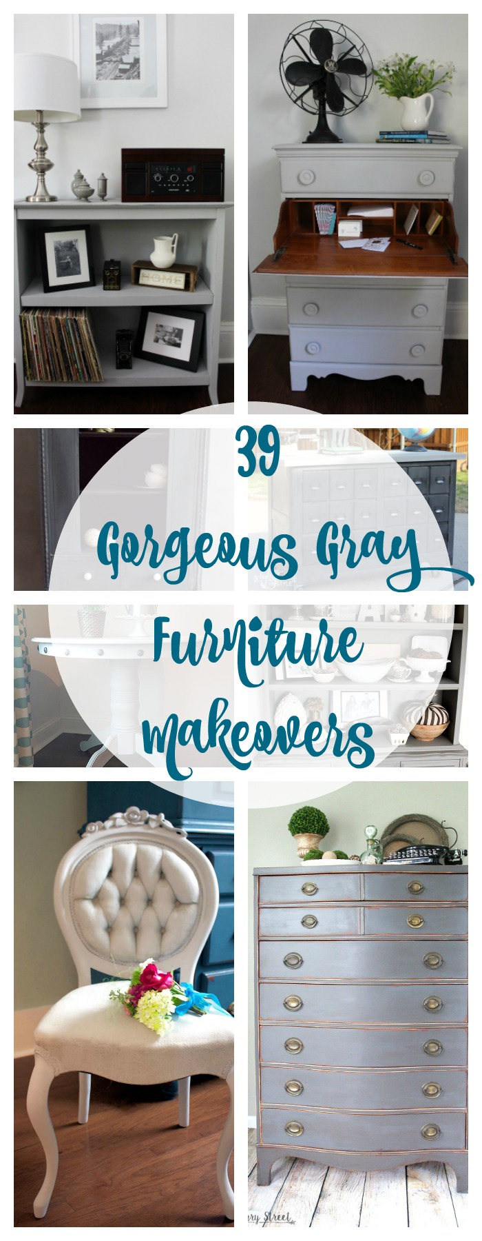 39 Gorgeous Gray Furniture Makeovers. Painted Furniture.