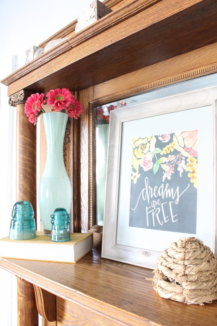 How to Decorate a Mantel - Back to Basics - 2 Bees in a Pod