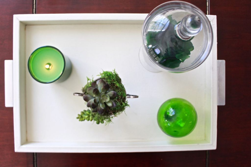 Spring Green Coffee Table Decor
