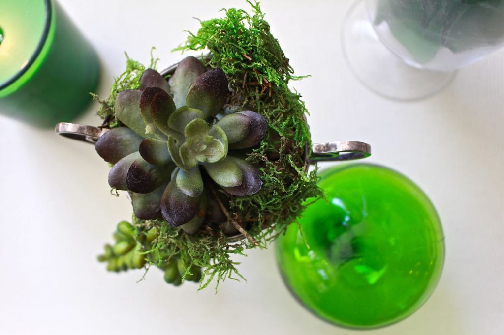 Spring Green Coffee Table Decor