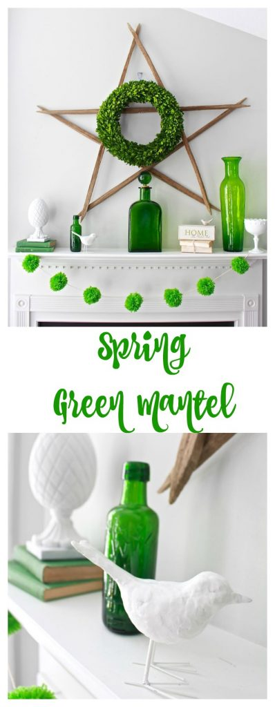 Spring Green Mantel collage