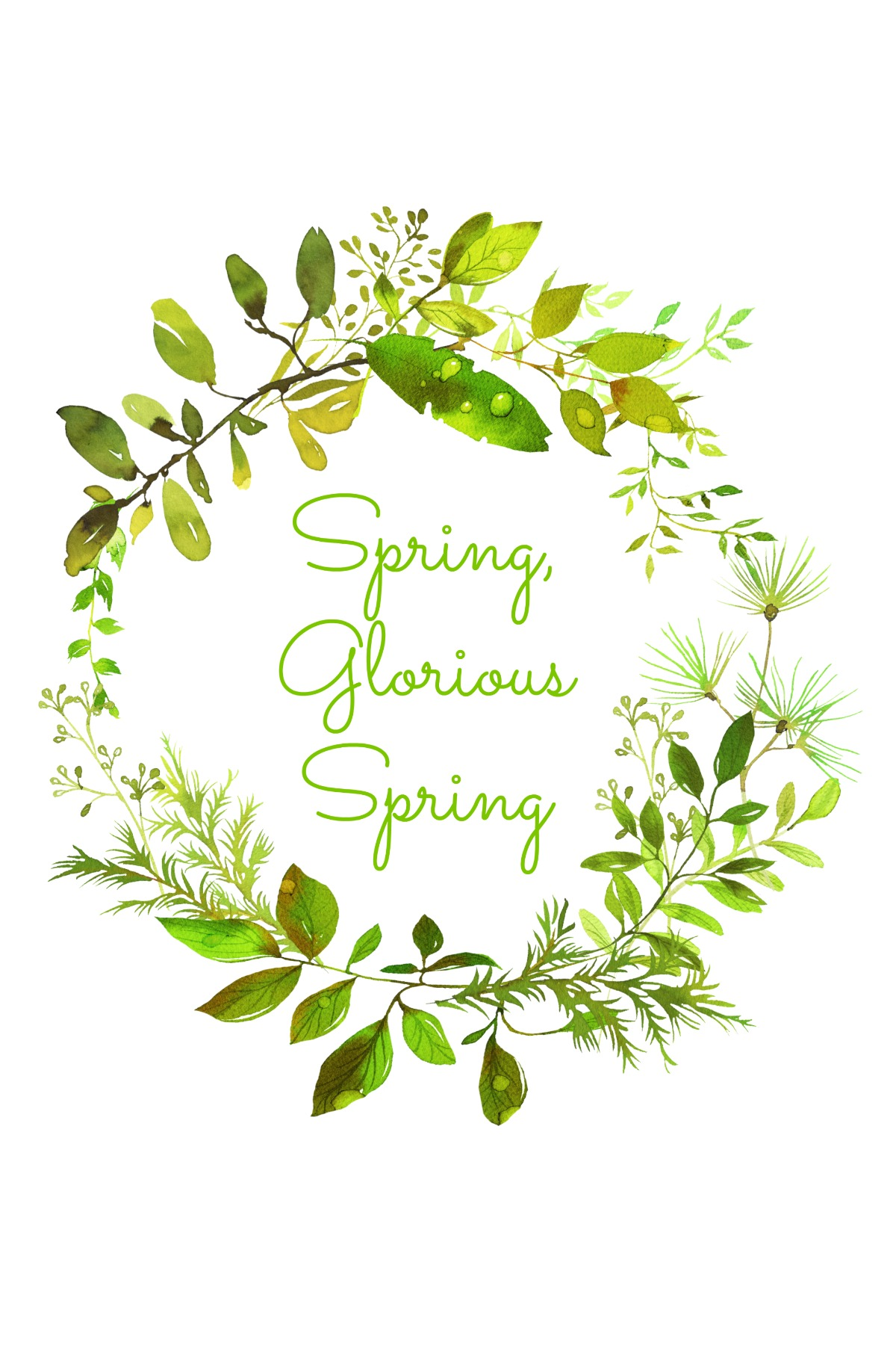 Spring Wreath Printable