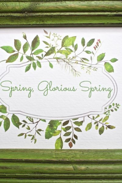 Spring Artwork – Free Spring Printable