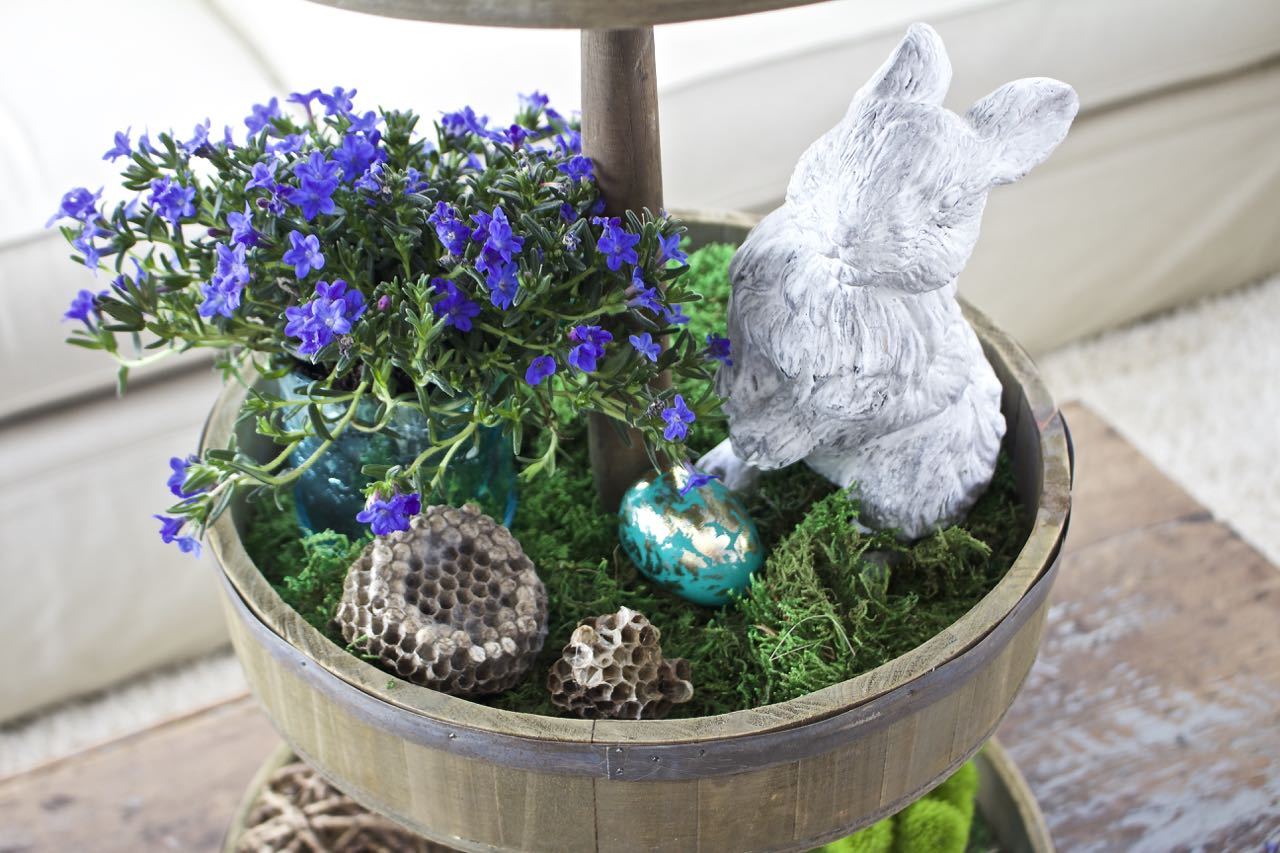 Tiered Tray Decor for Spring and Easter