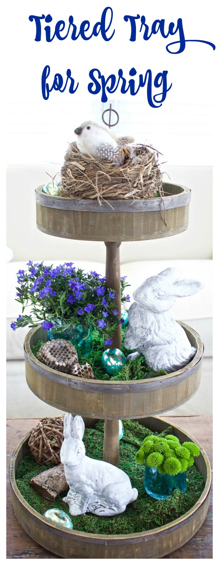 Tiered Tray for Spring and Easter