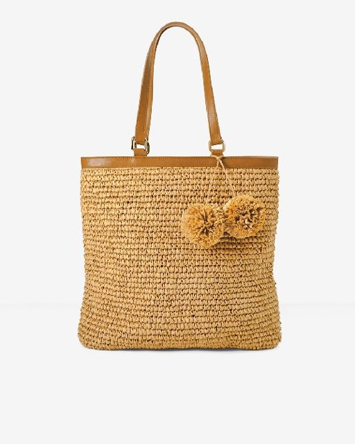 What we love for Spring. fab new straw handbag