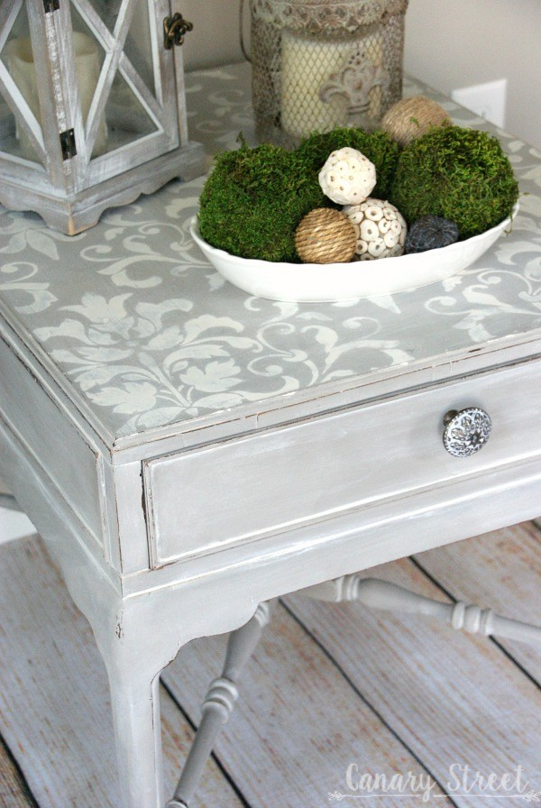 gray-and-white-stenciled-table-left-angle