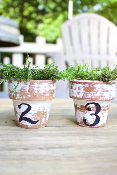 Citronella Candles in Mini Clay Pots