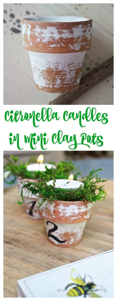 Citronella Candles in Mini clay pots - perfect for outdoor entertaining.