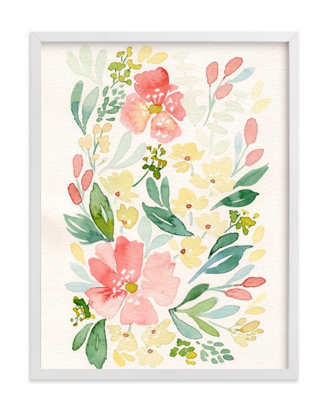 Coral Peonies Art Print Minted