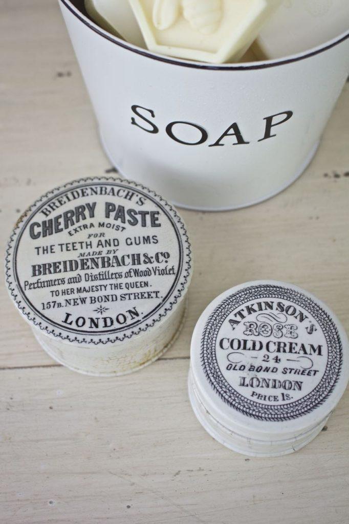Faux Enamel Soap Dish. DIY enamelware.