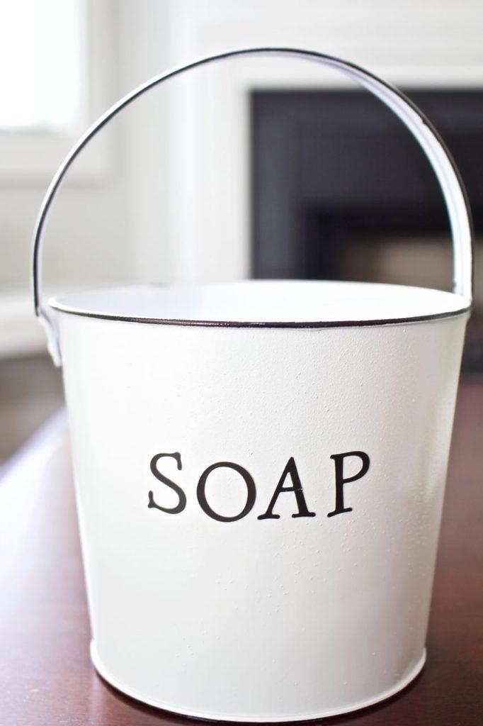 Faux Enamel Soap Dish. Faux enamelware is easy to do.