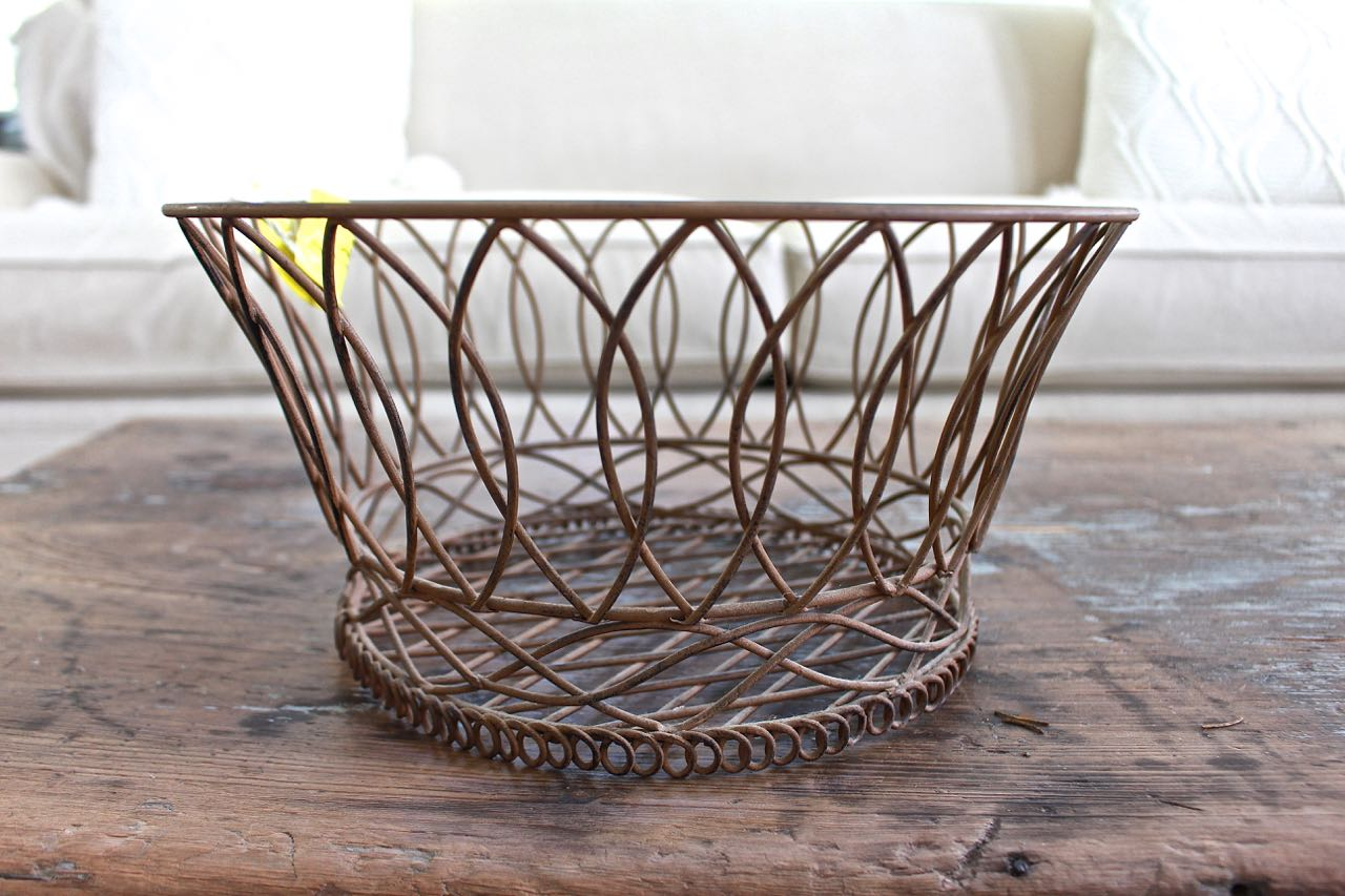 Thrift Store Finds. This heavy metal basket is perfect for gardening.