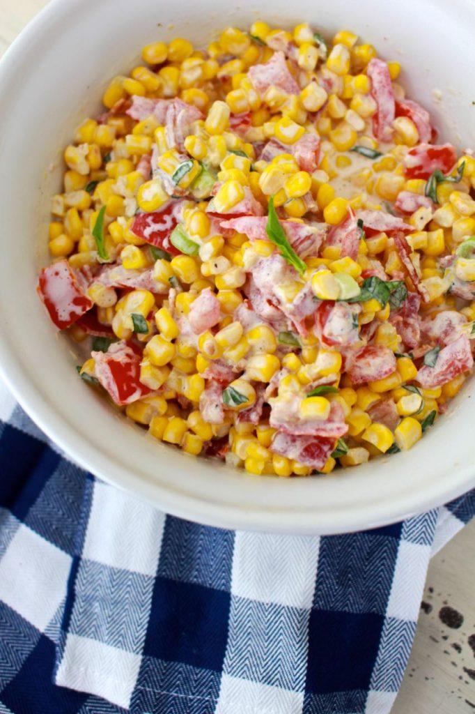 Creamy Corn Salad. Delicious Summer Salad.