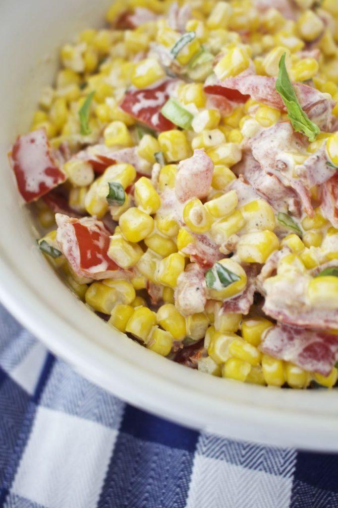 Creamy Corn Salad. Delicious.