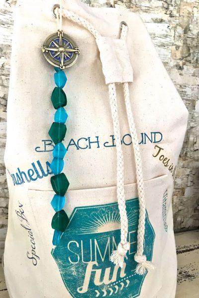 DIY Beach Bag –  Graphics and Beads