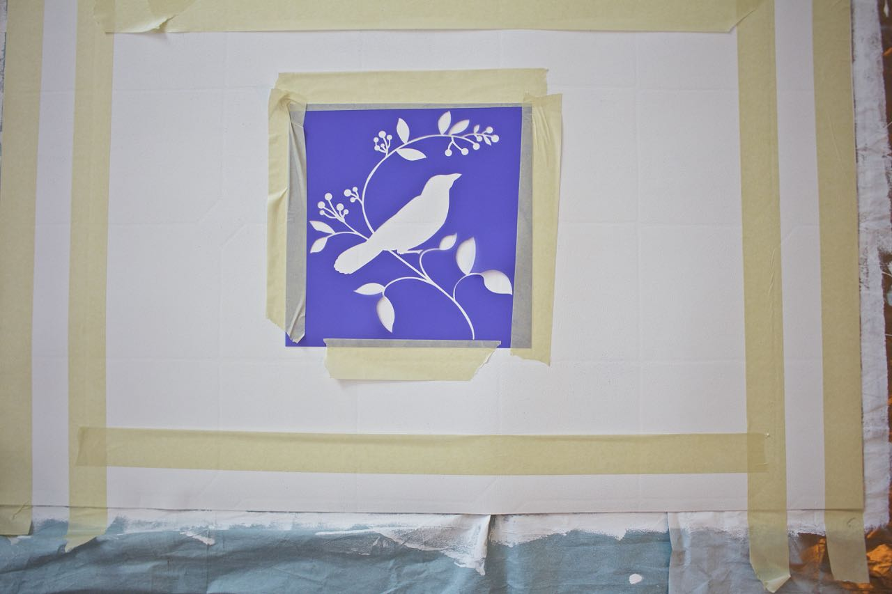 How To Paint A Rug Using Linoleum Flooring 2 Bees In A Pod