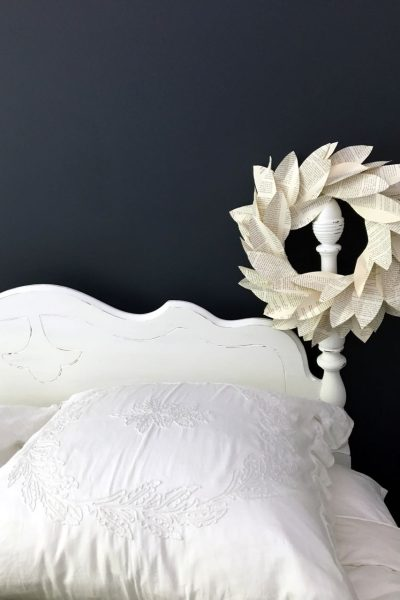 Chalk Painted Headboard – Cottage Style