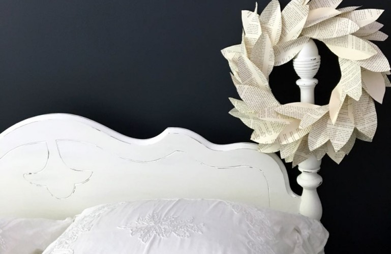 Chalk Painted Headboard - Cottage Style.