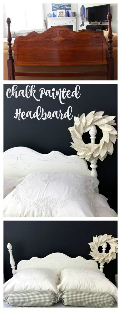 Chalk Painted Headboard