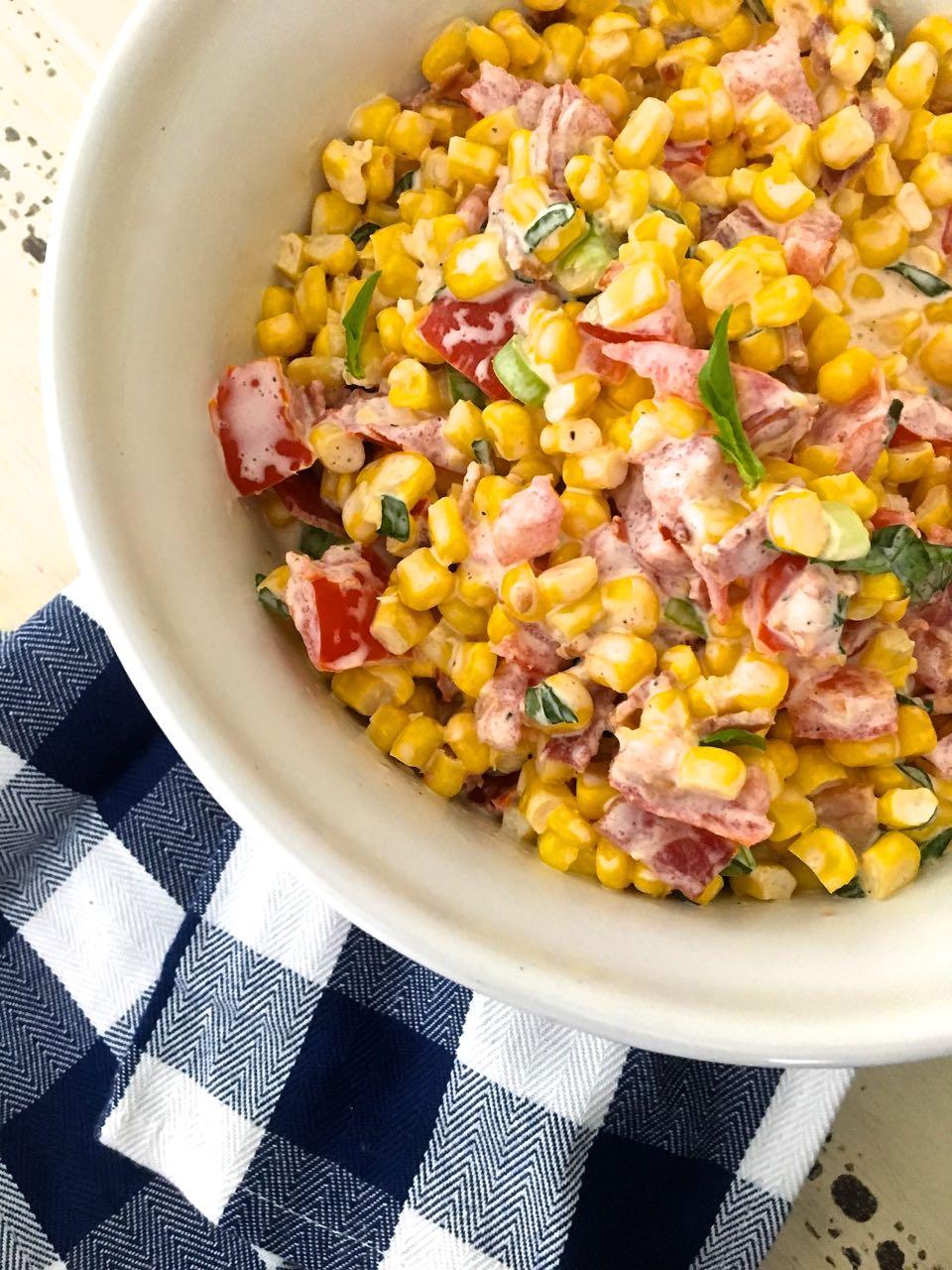 Creamy Corn Salad – Summer Salad Series