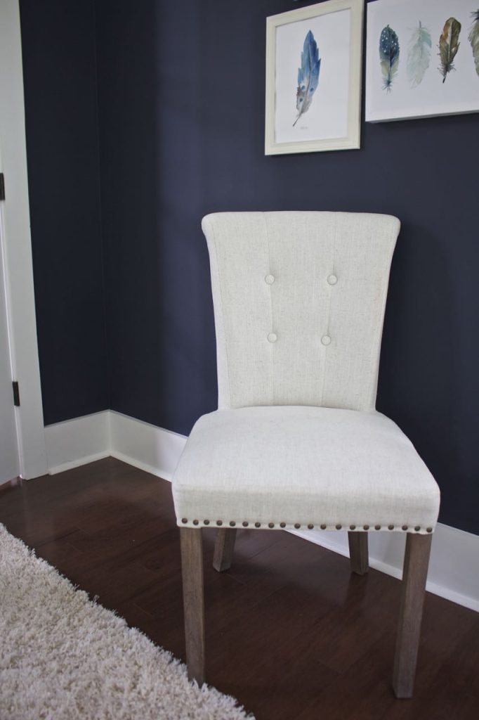 New Dining Room Chairs. Beautiful linen dining room chairs.